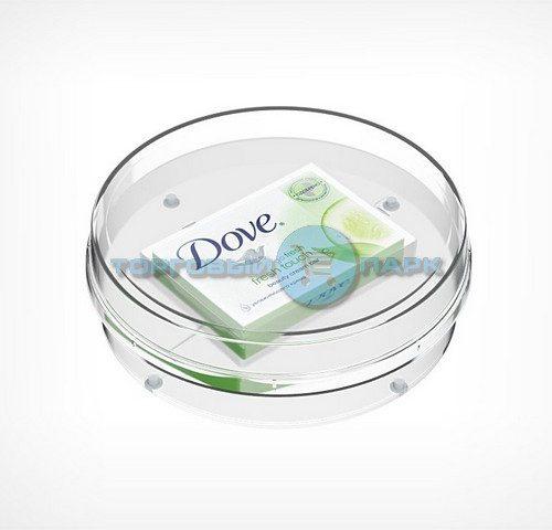 Монетница пластиковая круглая глубокая
